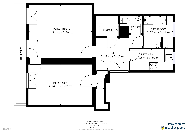 plan-matterport-appartement-paris-avec-cotes
